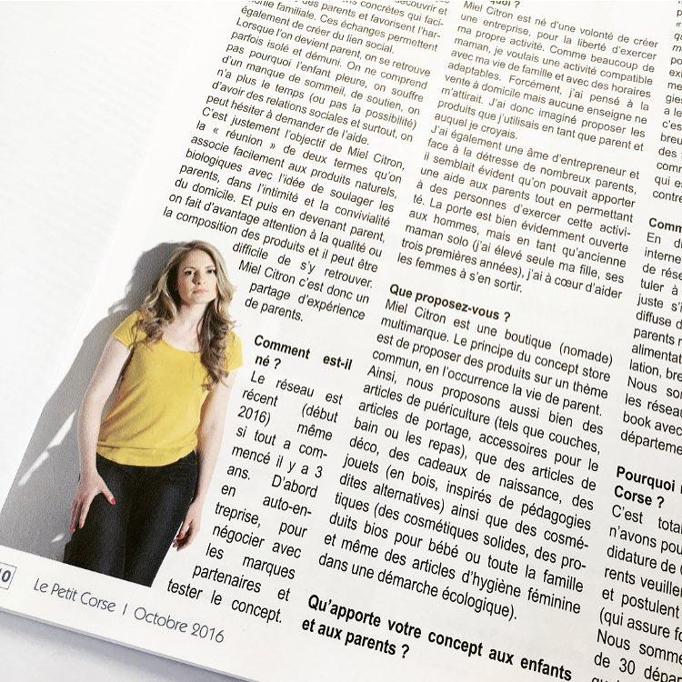 présentation Miel Citron Journal Le Petit Corse